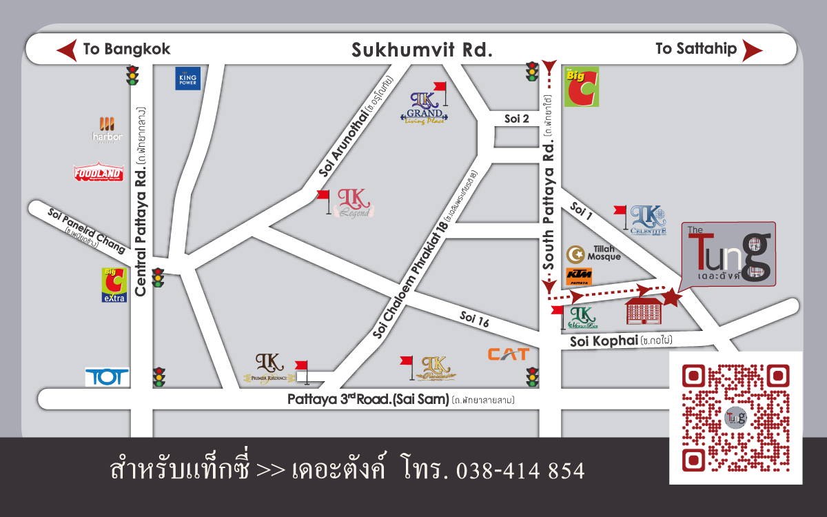 Map - The Tung Pattaya